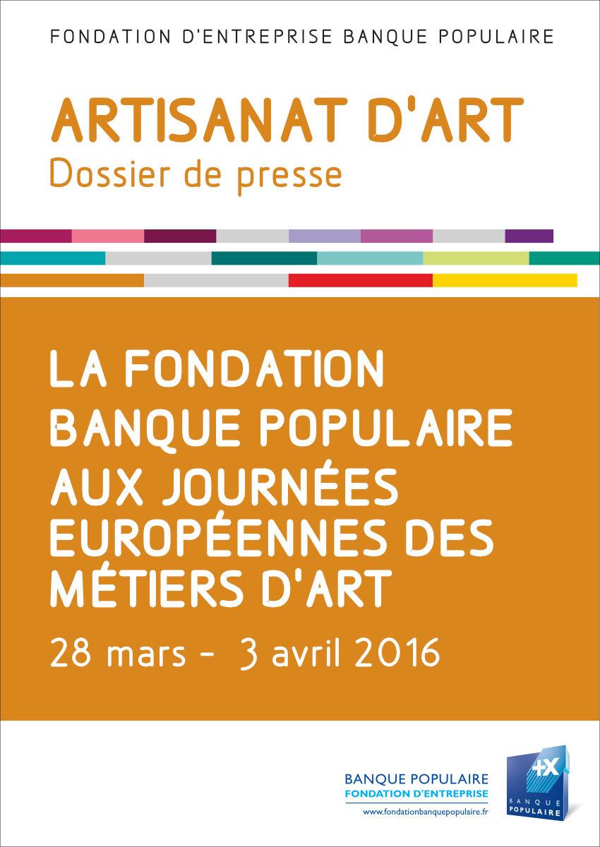 Dossier de presse - Journées Européennes des Métiers d'Art 2016
