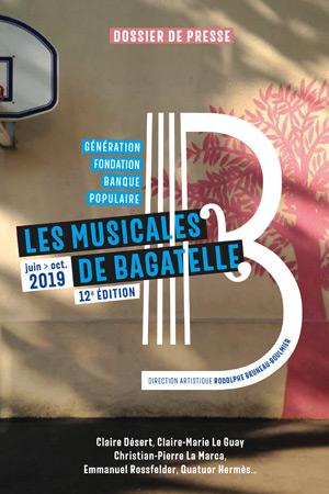 image Dossier de presse - Musicales de Bagatelle 2019
