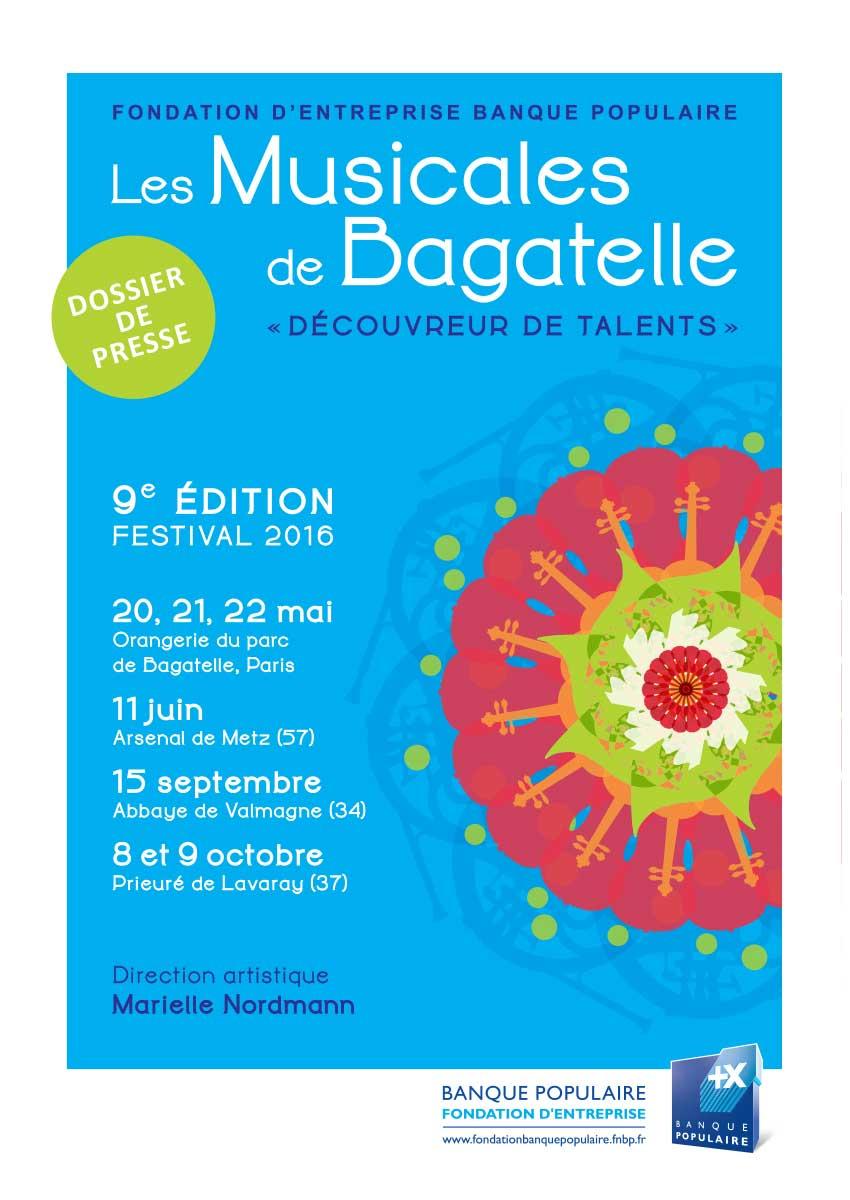 Dossier de presse - Musicales de Bagatelle 2016