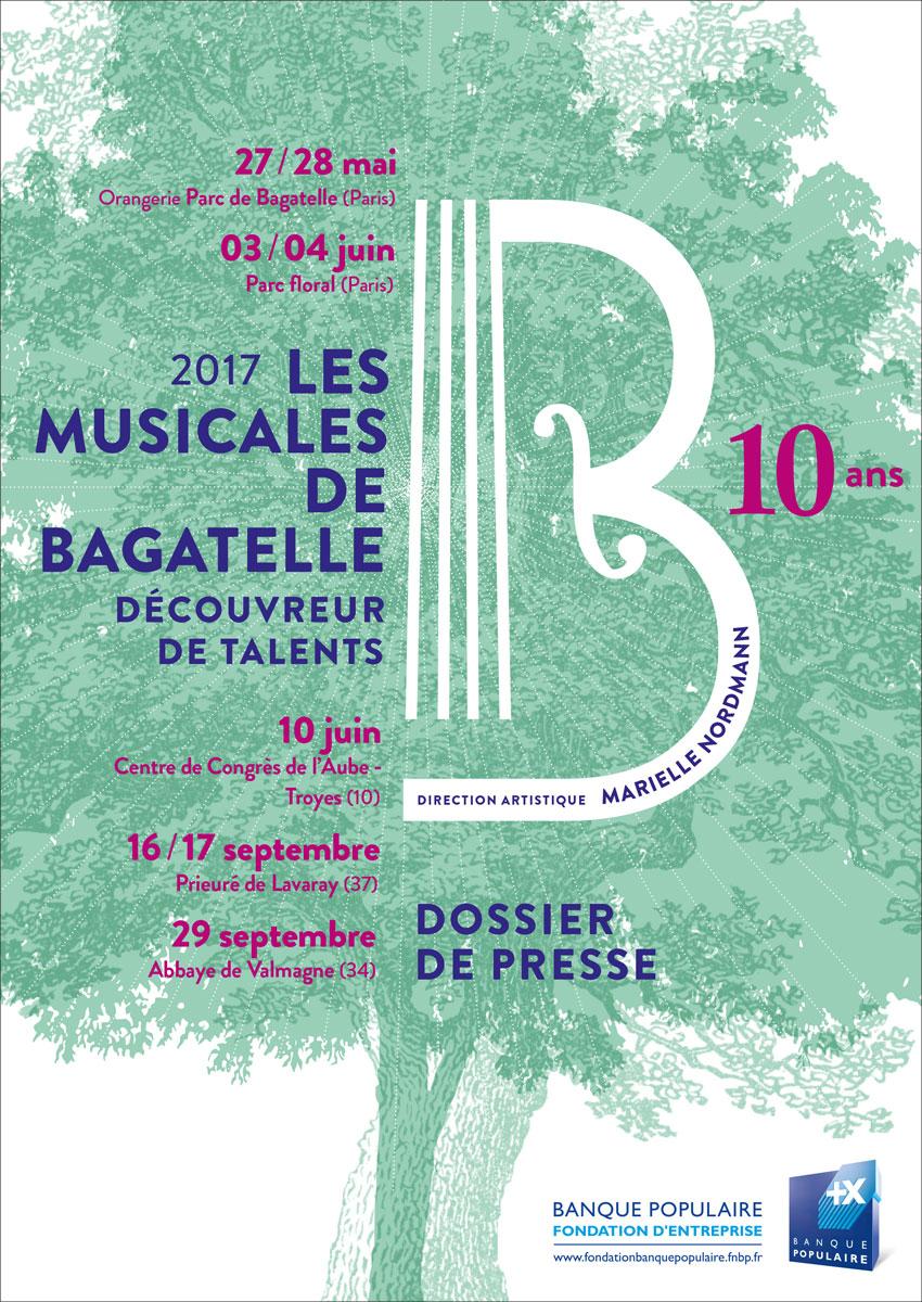 Dossier de presse - Musicales de Bagatelle 2017