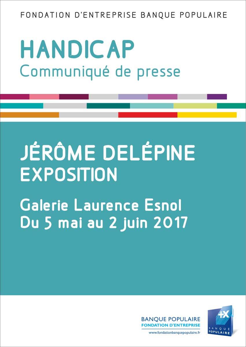 Communiqué de presse - Exposition de Jérôme Delépine