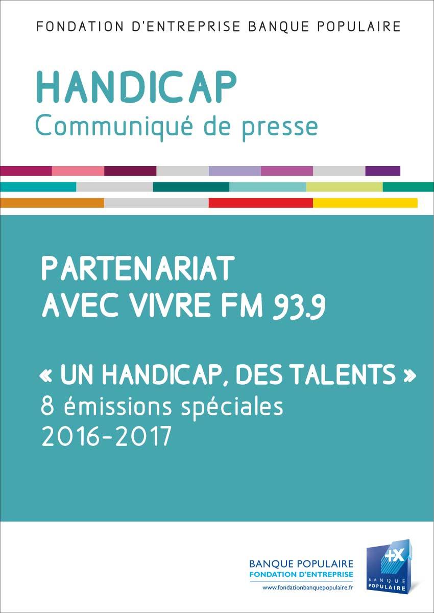 Communiqué de presse - Partenariat avec Vivre FM 93.9