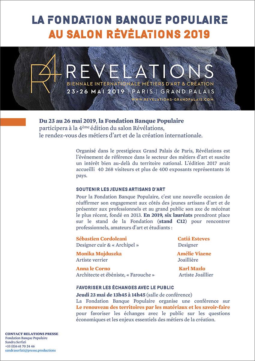Dossier de presse - Salon Révélations 2019